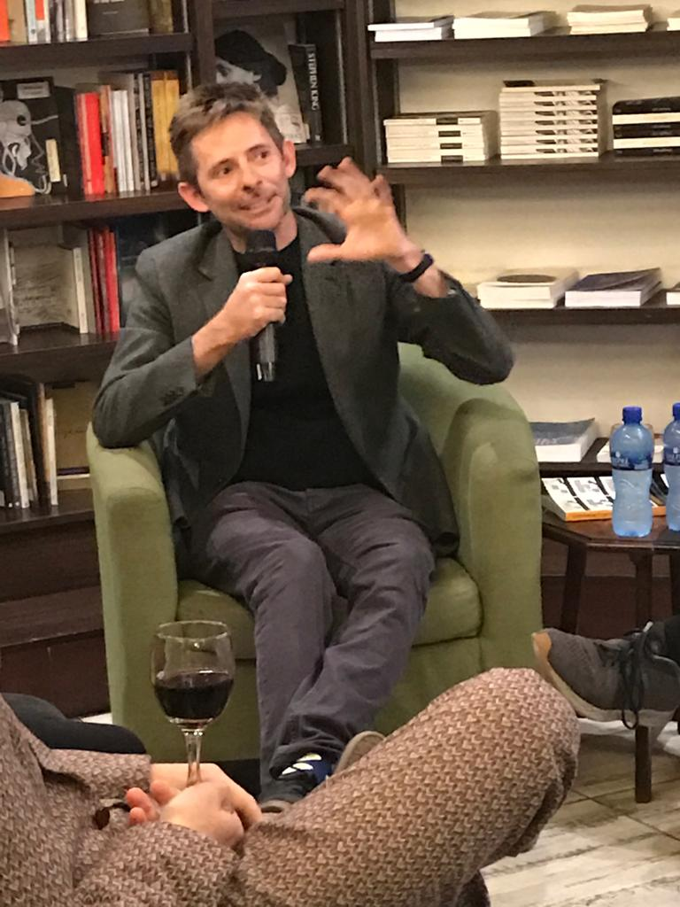 Author Hedle Twidle discusses his latest masterpiece, Experiments of Truth, at the book launch